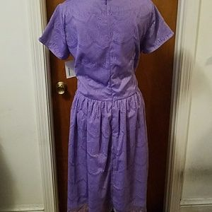 Shabby apple purple lace dress